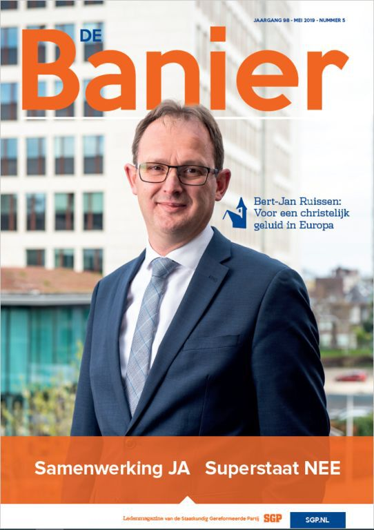 Banier mei 2019 Samenwerking JA Superstaat NEE