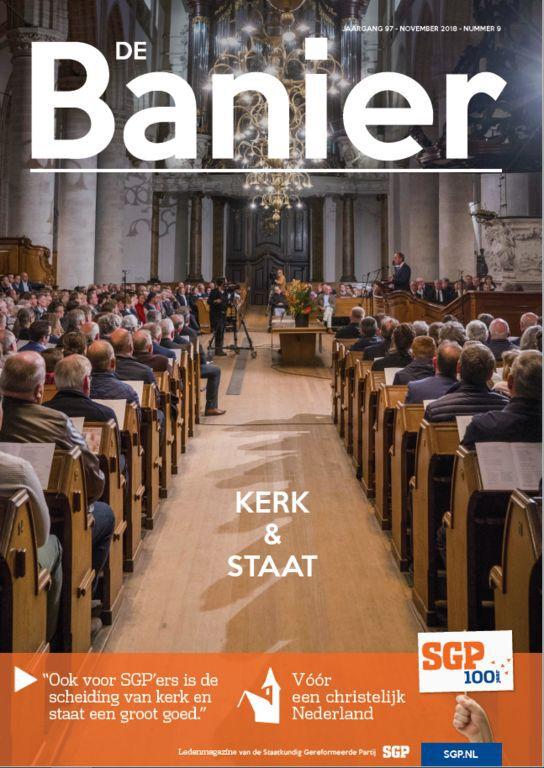 Banier november 2018 Kerk & staat