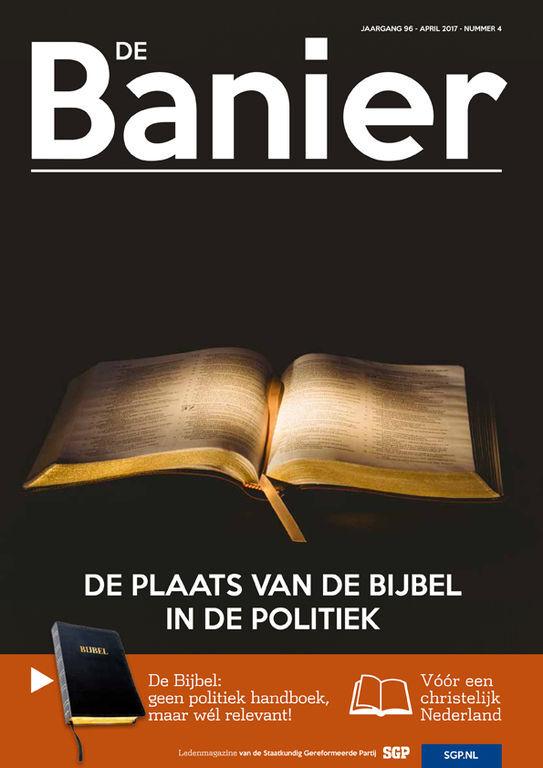 Banier april 2017 De Plaats van de Bijbel in de politiek